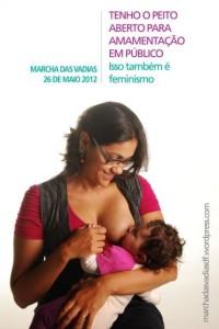 Cartaz de divulgação marcha das vadias de Brasília 2012